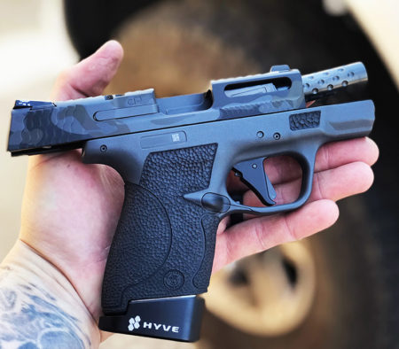 M&P Shield Stippling