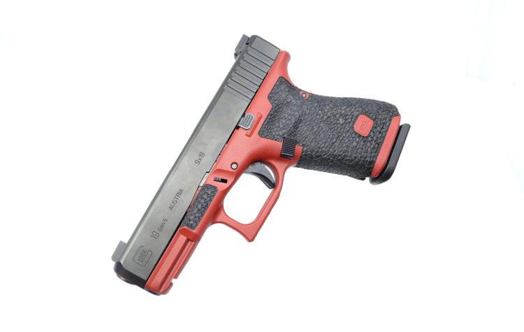 Crimson Glock Stippling