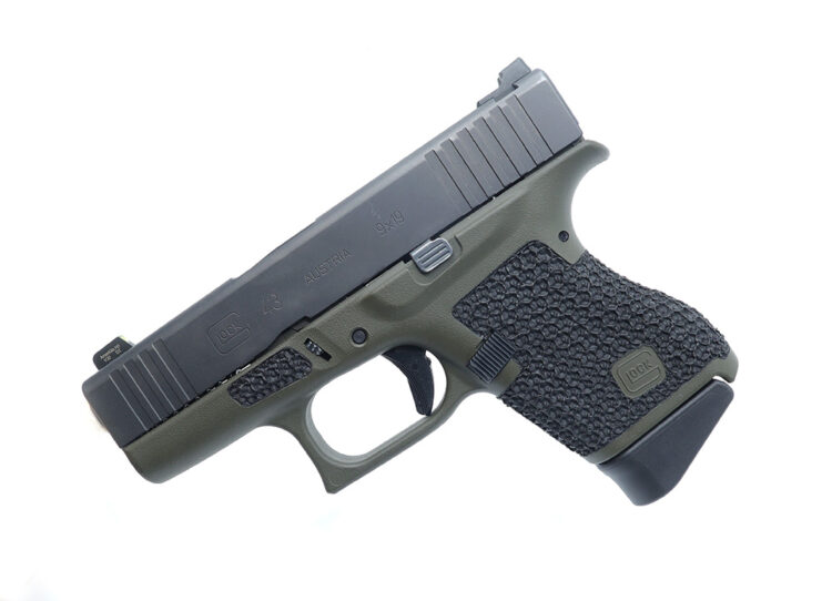 glock 43 stippling and cerakote