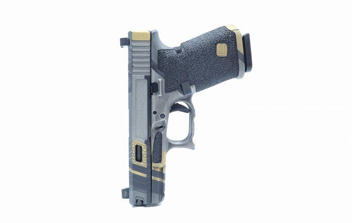 Custom cerakote and Glock 19 stippling