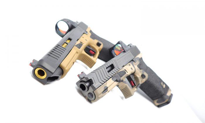 Double Custom Glock Stippling