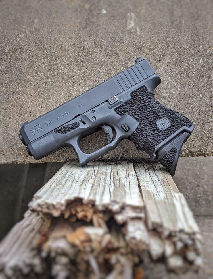 Glock 26 custom stippling sniper grey