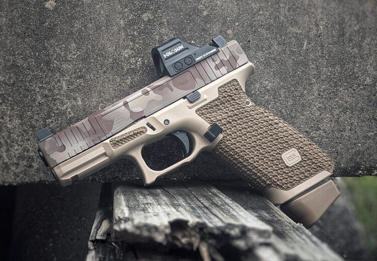 custom glock 19x stippling